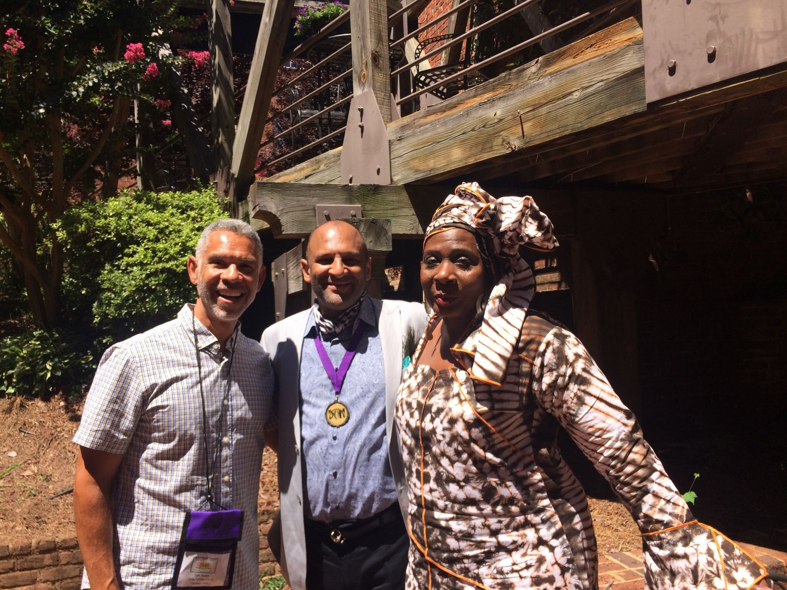 Scot Reese and TDPS alumni at Black Theatre Network Conference 2017