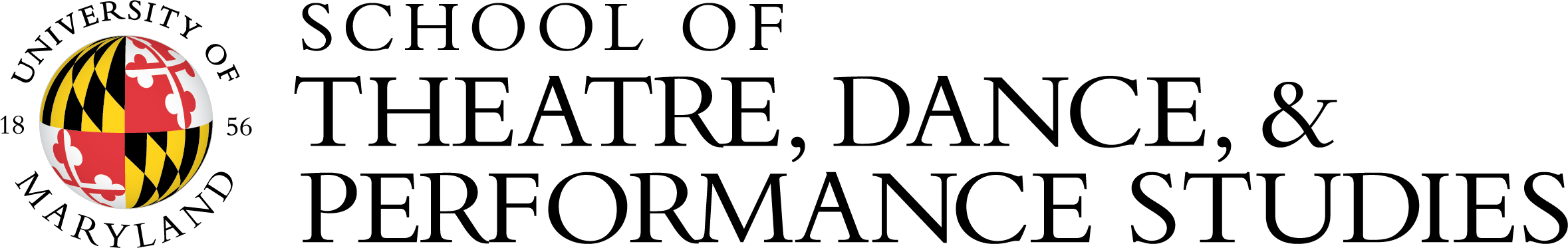 UMD School of Theatre, Dance, and Performance Studies Logo